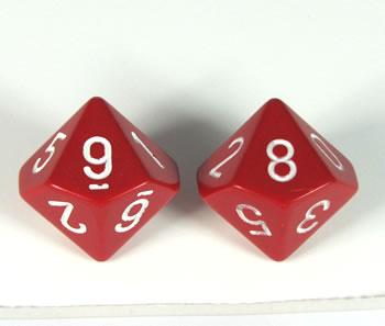 10 sided dice pattern