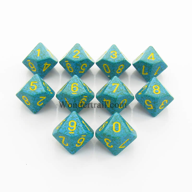 Chessex Dice CHX25136 Primula Speckled d10 Dice Set (10) by Chessex Dice at Sears.com