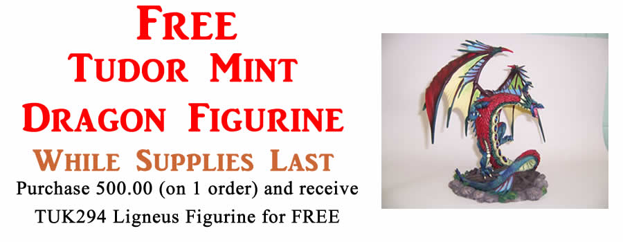 Purchase 500.00 On One Order And Receive Free Dragon