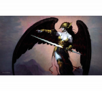 ACT032 Golden Helm Card Game Playmat Action Sports