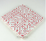 KOP00509 Lobster Dice White Opaque Red Pips D6 16mm Bulk Pack of 100