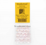 WON0072 Pink Transparent Gaming Counter Tokens Aprox 15mm Pack of 22