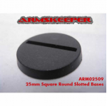 ARM02509 Round Slotted 25mm Miniature Bases (20) ArmsKeeper