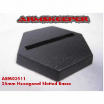 ARM02511 Hexagonal Slotted 25mm Miniature Bases (20)