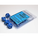 CHX25106 Water Speckled D10 Dice White Numbers 16mm Pack of 10