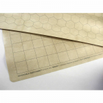 CHX96257 Reversible Battlemat with 1 1/2in Squares and 1 1/2in Hexes Chessex