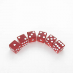 KOP08971 Red Translucent Dice with White Pips D6 16mm (5/8in) Pack of 6