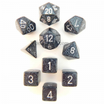 KOP09981 Ninja Elemental Dice With Silver Numbers Set 10pc Dice