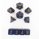 KOP09985 Golden Cobalt Elemental Dice Gold Numbers 16mm Set of 10