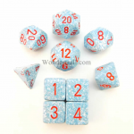 KOP09988 Air Elemental Dice With Red Numbers Set 10pc Dice