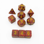 KOP09991 Mercury Elemental Dice Yellow Numbers 16mm (5/8in) Set of 10
