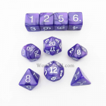 KOP10077 Purple Pearlized Dice with White Numbers 16mm (5/8in) Set of 10
