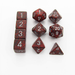 KOP13137 Silver Volcano Elemental Dice With Silver Numbers Set 10pc Dice