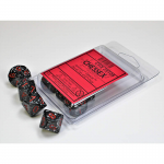 CHX25108 Space Speckled D10 Dice Red Numbers 16mm Pack of 10