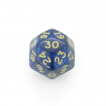 CHXXH3016 Blue Shimmer Die Gold Numbers D30 34mm (1.34in) Pack of 1