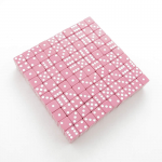 KOP01984 Pink Opaque Dice White Pips D6 16mm (5/8in) Bulk Pack of 200