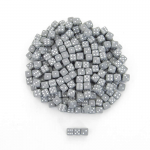 KOP00643 Grey Opaque Dice with White Pips D6 5mm (13/64in) Pack of 250