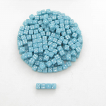 KOP00646 Pale Blue Opaque Dice White Pips D6 5mm (13/64in) Pack of 250