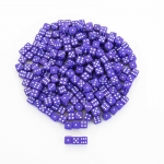 KOP00648 Purple Opaque Dice White Pips D6 5mm (13/64in) Pack of 250