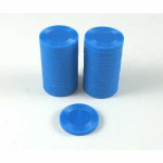 KOP13379 Blue Mini Poker Chips 22mm (7/8in) Tube of 50 Koplow Games