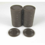 KOP13380 Brown Mini Poker Chips 22mm (7/8in) Tube of 50 Koplow Games