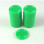 KOP13381 Green Mini Poker Chips 22mm (7/8in) Tube of 50 Koplow Games
