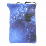GHGCB1002 Night Sky Cotton Gamer Dice Bag (5in x 7in) Gallant Hands