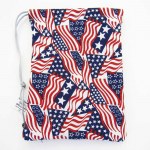 GHGCB1019 Red White and Blue Cotton Gamers Dice Bag (5in x 7in)