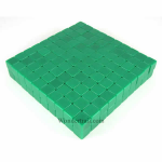KOP01981 Green Blank Opaque Dice D6 16mm (5/8in) Bulk Pack of 200