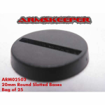 ARM02503 Round Slotted 20mm Miniature Bases (20) ArmsKeeper