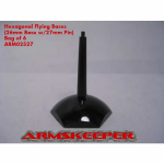ARM02527 Hexagonal 26mm Black Flying Bases with 27mm Pin (6)