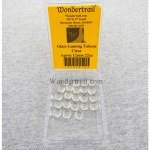 WON0078 Clear Small Gaming Counter Tokens Aprox 12mm Pack of 22