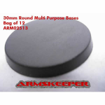 ARM02513 Round 30mm Multi Purpose Bases (12) ArmsKeeper