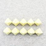 CHX29044 Ivory Blank Dice with No Pips D10 16mm (5/8in) Pack of 10