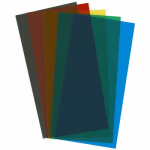 EVG9905 Assorted Transparent Styrene Sheets 5 Color Pk .010x6x12 Inches Evergreen