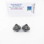 WCXPB1128E2 Smoke Borealis Dice with Silver Numbers D10 Tens Aprox 16mm (5/8in) Pack of 2 Wondertrail