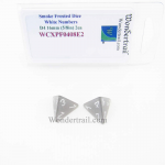 WCXPF0408E2 Smoke Frosted Dice White Numbers D4 16mm Pack of 2