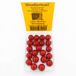WONGM009 Red Opaque 14mm Glass Marbles Pack of 20