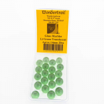 WONGM005 Light Green Transparent 14mm Glass Marbles Pack of 20