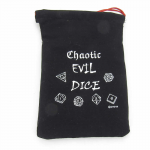 GHGCB1025 Chaotic Evil Dice Bag 7inx5in Drawstring Gallant Hands Gamers Gear