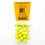 WONGM011 Yellow Opaque 14mm Glass Marbles Pack of 20