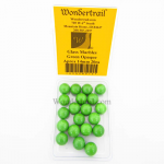 WONGM012 Green Opaque 14mm Glass Marbles Pack of 20