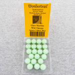 WONGM015 Mint Opaque 14mm Glass Marbles Pack of 20