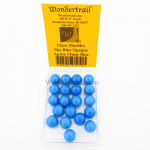 WONGM018 Sky Blue Opaque 14mm Glass Marbles Pack of 20