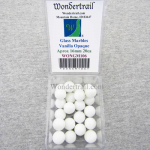 WONGM106 Vanilla Opaque 16mm Glass Marbles Pack of 20