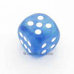 CHXDB3006 Sky Blue Borealis Die With White Pips D6 30mm Chessex