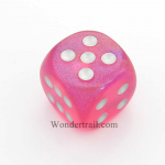 CHXDB3014 Pink Borealis Die With Silver Pips D6 30mm Chessex