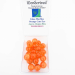WONGM113 Orange Cats Eye 16mm Glass Marbles Pack of 20