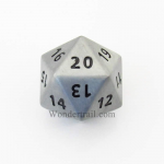 Cyc02154 Antique Silver Coloered Metal Dice D20 33mm Pack Of 1