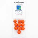 WONGM150 Orange Opaque 19mm Glass Marbles Pack of 10 Wondertrail